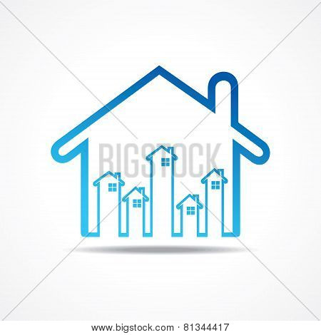 Group of up homes in the home stock vector