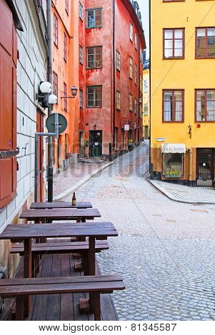 Stockholm. Sweden. Gamla Stan. Early morning