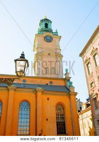 Stockholm Cathedral (Storkyrkan) in Gamla Stan (Old Town). Sweden