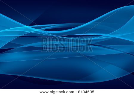 Abstract blue background, wave, veil or smoke texture - computer generated picture