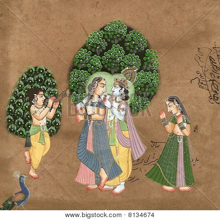 Shiva And Parvati In Love