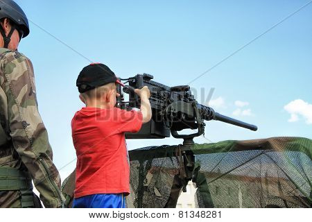 Children With Machine Gun