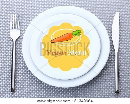 Plate with text