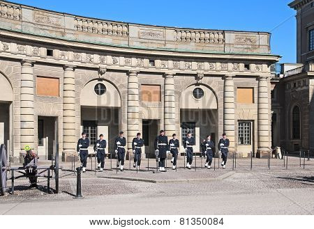 Stockholm. Sweden. Guard at Royal Palace
