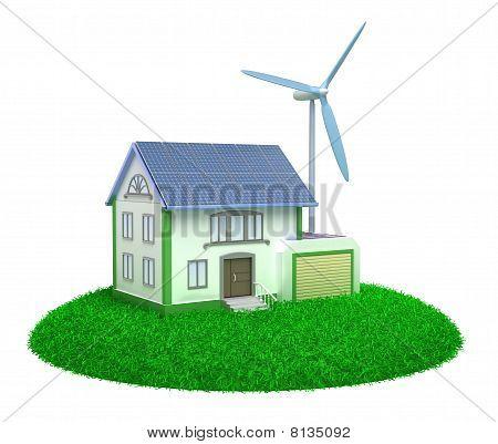 Eco house - 3D image.