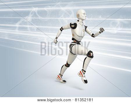 Robot Running At High Speed