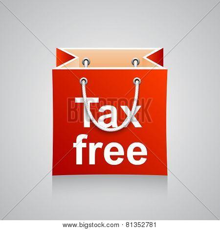 Bag tax free. Vector