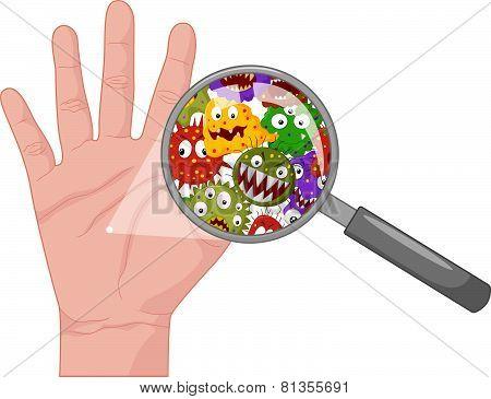 Cartoon Dirty hand