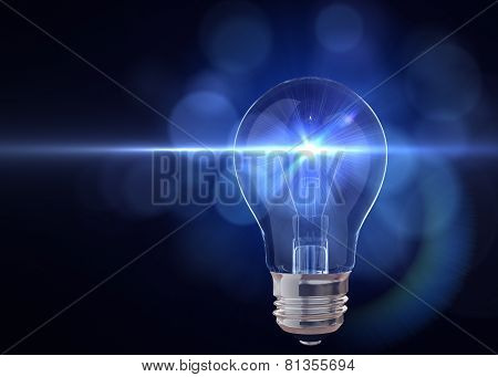 Light Bulb With Flash Of Light