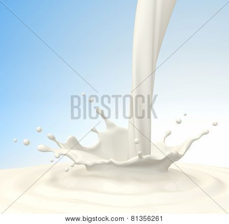 Pouring Milk. Clipping Path Included