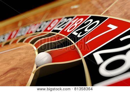 Casino Roulette. Seven Red