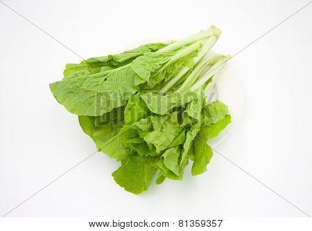 Lettuce Vegetables On Dish