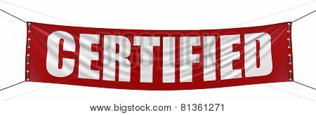 Certified Banner (clipping path included)