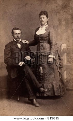 1880 Photo of a couple