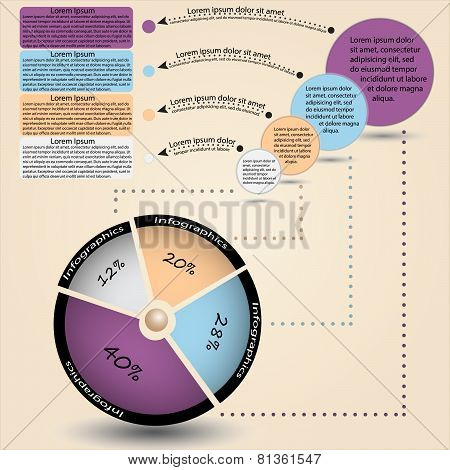 Vector info-graphic with circle diagram