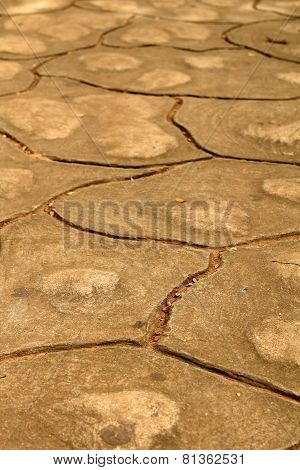 Patterned Paving Tiles, Cement Brick Floor Background