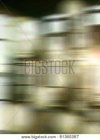 Blur lift in plaza