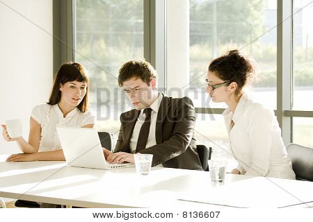 Young Business Team At A Meeting