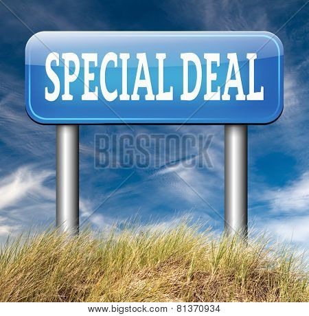 Deals great special sales offer