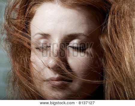 Redhaired Mysterious Woman