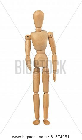 Wood Mannequin Holds Out Her Hand