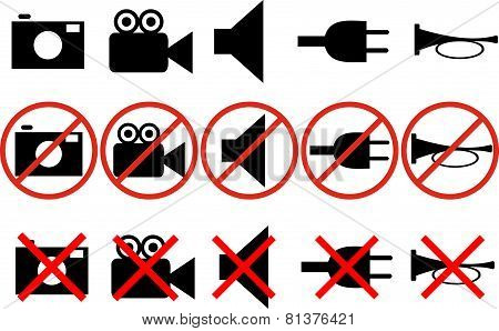 Icons With Prohibitions Action 1