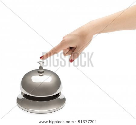 Female Finger Ringing Service Bell
