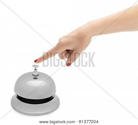 Hand Ringing Hotel Bell