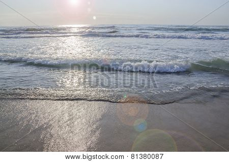 Solar Power Ocean Wave Background