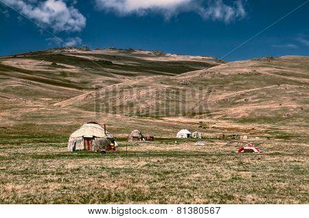 Yurts In Kyrgyzstan