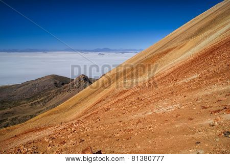 Colored Mountains In Bolivia