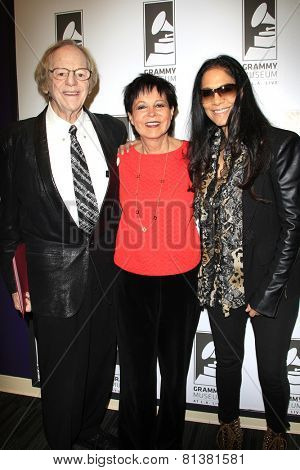 LOS ANGELES - JAN 28: Sheila E, Cheryl Kagan, Ken Kragen at the 30th Anniversary of 'We Are The World' at The GRAMMY Museum on January 28, 2015 in Los Angeles, California