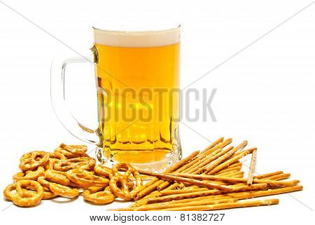 Pretzels, Breadsticks And Light Beer