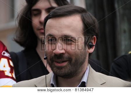 The Politician Ilya Ponomarev Speaks At An Oppositional Action