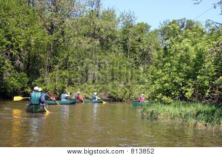 Canoers on the Water