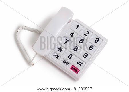 white phone isolated