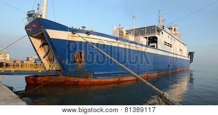 Unloading Sea Ferry