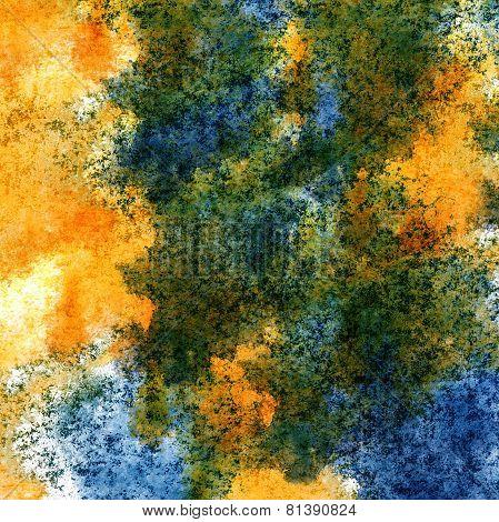 modern art avant-guard texture background blue, yellow wallpaper