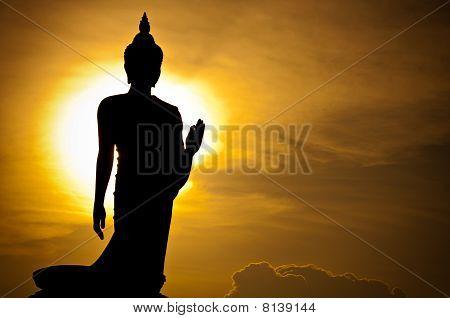 Silhouette der buddha