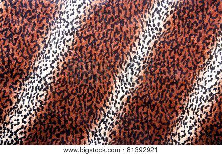 Leopard Skin Pattern On Faux Fur Fabric