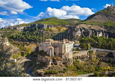 incredible  Cuenca - view of Parador. Spain