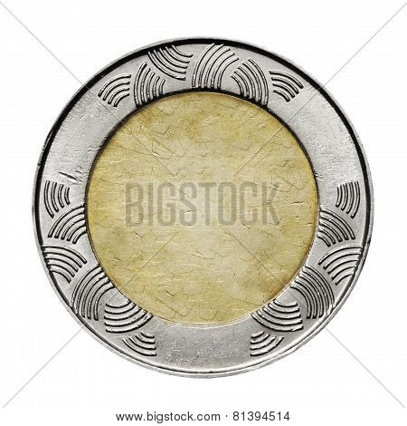 Blank coin  background