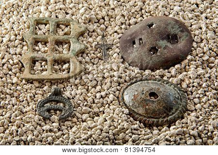 Artifacts On White Sand