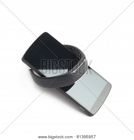 Smart watch and phone isolated