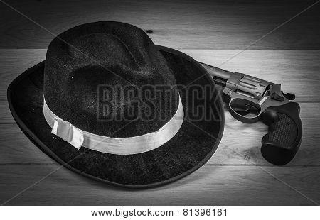 Hat And Gun