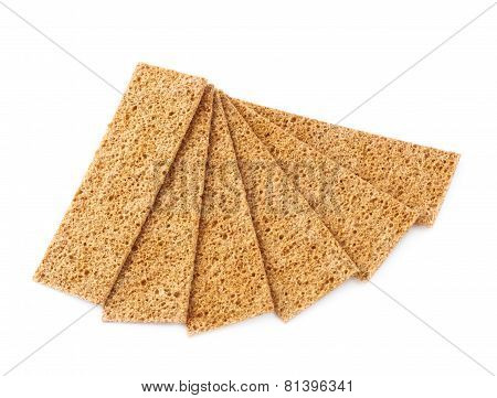Bread cracker snacks isolated