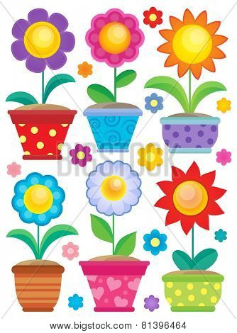 Flower theme collection 2 - eps10 vector illustration.