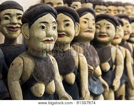 Vintage Vietnamese Water Puppets In Hanoi, Vietnam