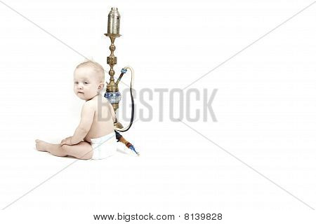Baby With Hookah