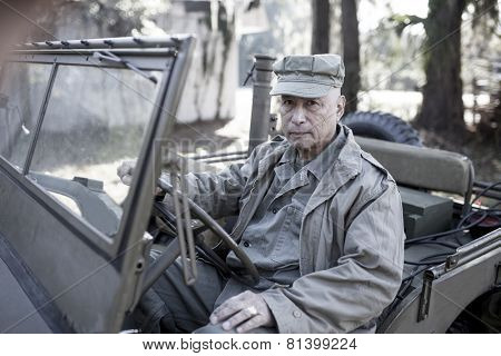 man in period accurate world war two uniform